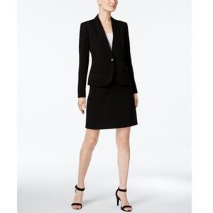 Anne Klein Single Button A-Line Skirt Suit